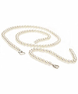 DaVonna Silver White FW Pearl Necklace and Bracelet Set (5-6 mm) (Case of 3)