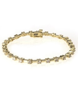 14k Gold 2 1/2ct Diamond Tennis Bracelet (H, SI1)