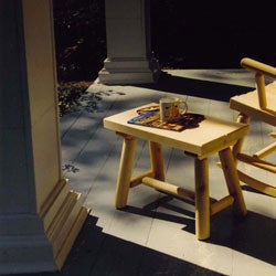 Rustic Adirondack Log Pole Bench