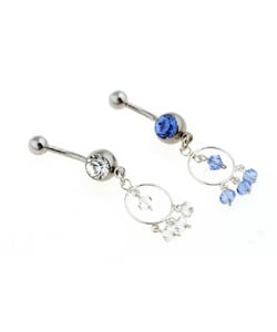 CGC Surgical Steel Exotic Hoop Barbell Belly Ring
