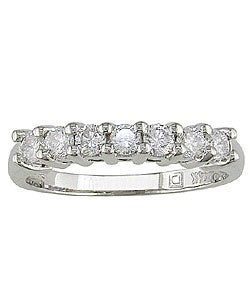 Miadora 14k White Gold 1/2ct Diamond Wedding Anniversary Band (G-H/ I1-I2)
