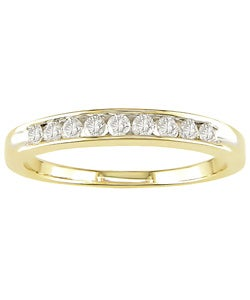 Miadora 14k Gold 1/4ct TDW Round Diamond Anniversary Ring