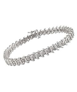 Miadora 14k White Gold 3ct TDW Diamond Tennis Bracelet (I-J, I2-I3)