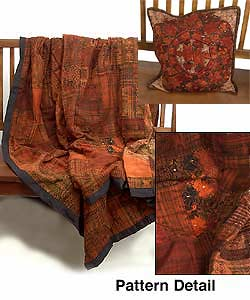 Rust Patchwork Quilt Set (Guatemala)