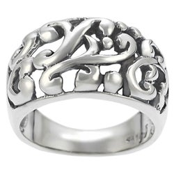 Tressa Sterling Silver Filigree Ring