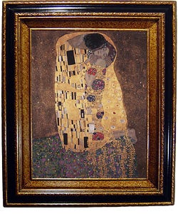 Klimt The Kiss Framed Canvas