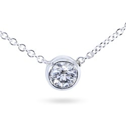14k Gold 1/3ct TDW Bezel-set Diamond Necklace (H-I, I1-I2)