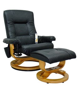 Leather Massage Chair with Ottoman