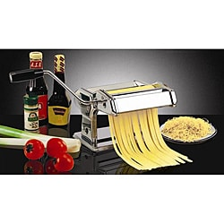 Large 7 inch Pasta Machine with Two Cutting Dies