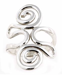 Tressa Sterling Silver Swirl Ring