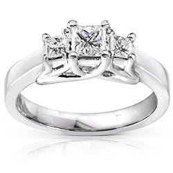 14k Gold 1/2ct TDW Princess Diamond Ring