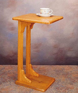 Oak Finish Wooden Coffee/ Snack Table