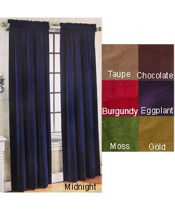Velvet Pole Top Curtain Panel Pair