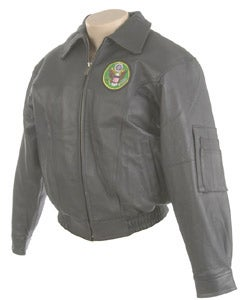 Oscar Piel Leather Jacket with U.S. Army Logo