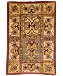 Handmade Classic Bakhtieri Multicolored Wool Rug (2' x 3')