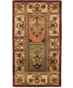 Handmade Classic Bakhtieri Multicolored Wool Rug (2'3 x 4')