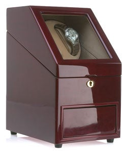 Burgundy Two-watch Winder/ 11-watch Collection Box
