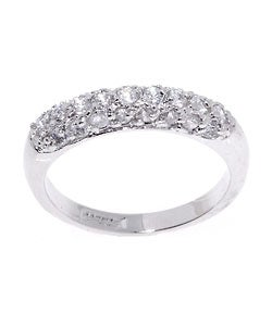 Icz Stonez Sterling Silver Pave-set CZ Ring
