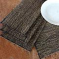Set of 4 Cotton Natural Fibers 'Nature By Night' Placemats (Indonesia)