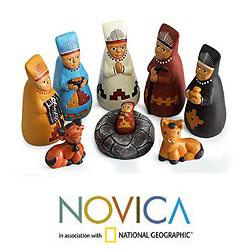 Ceramic 'Born to Lambayeque' Nativity Scene (Peru)