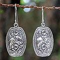 Sterling Silver 'Elephant Roses' Flower Earrings (Thailand)