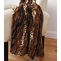 Paris Printed and Pieced Fur Throw