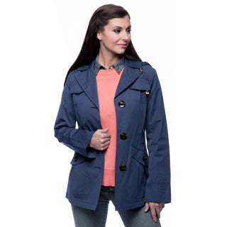 Ellen Tracy Women's Belted Mini Trench Jacket