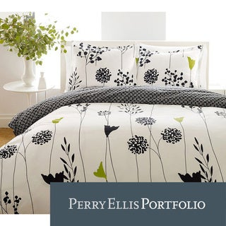 Perry Ellis Asian Lilly 3-piece Mini Duvet Cover Set