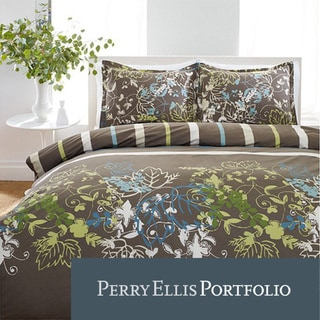 Perry Ellis Sweet Bay 3-piece Mini Duvet Cover Set