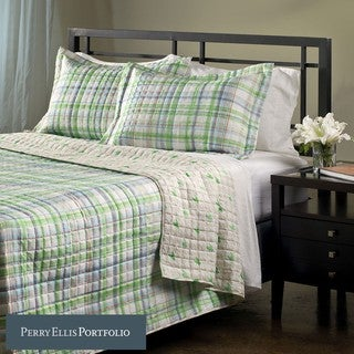 Perry Ellis Tom 3-piece Full/ Queen-size Microfiber Quilt Set