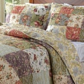 Blooming Prairie Cotton Quilted Pillow Shams (Set of 2)