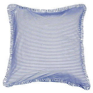 Blue/White Ticking Euro Sham