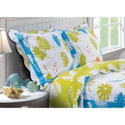 Coastal Breeze Quilted Pillow Sham Set