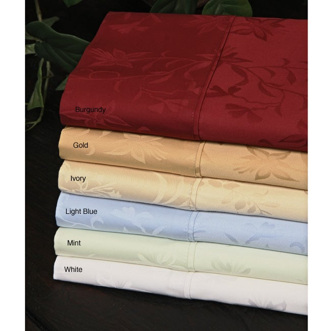 Egyptian Cotton 310 Thread Count Jacquard Pillowcase Set