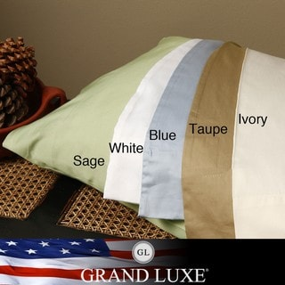 Grand Luxe Egyptian Cotton 500 Thread Count Pillowcases (Set of 2)