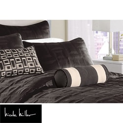 Nicole Miller City Square Black Standard Pillow Sham