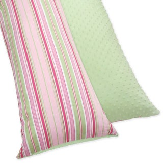 Pink and Green Jungle Friends Full Length Double Zippered Body Pillow Case Cover