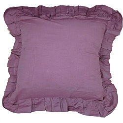 Purple Linen Ruffled Euro Sham