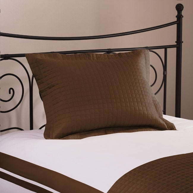 Roxbury Park Quilted King Size Chocolate Sham