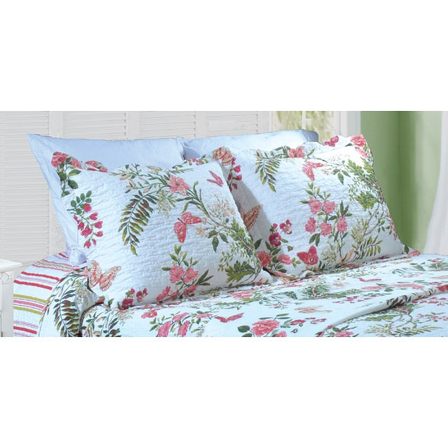 Greenland Home Fashions Secret Garden Quilted Pillow Shams (Set of 2)