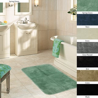 Plush Non-skid 24 x 40 Bath Rug (Set of 2) | Overstock.com ...