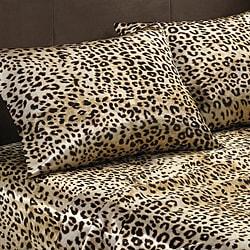 Premier Comfort Cheetah Polyester Textured Satin Standard Pillowcases (Set of 2)