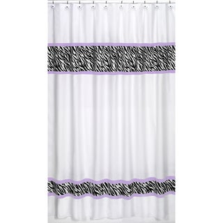 Purple Funky Zebra Shower Curtain