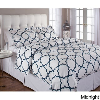 Quatrefoil Cotton 3-piece Duvet Cover Set