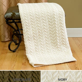 Quilted Cable Micro Mink Throw