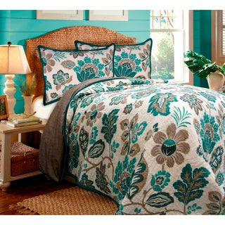 Ikat Floral Quilt and Sham Separates