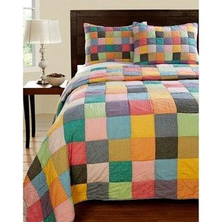 Landon Color Patchwork Twin-size Quilt Set