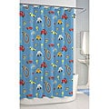 Race Car Printed Shower Curtain