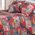 Red Rose Garden King-size 3-piece Quilt Set