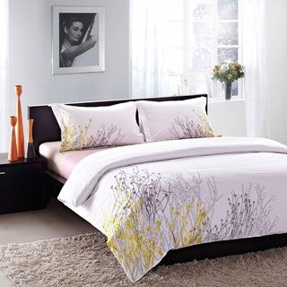 Reed Embroidered King-size 3-piece Duvet Cover Set